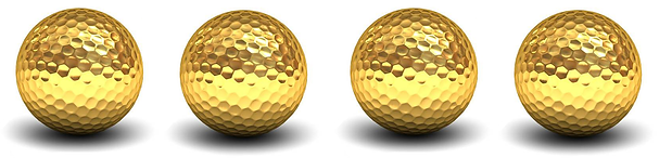 4 long gold-golf-ball-isolated-over-whit