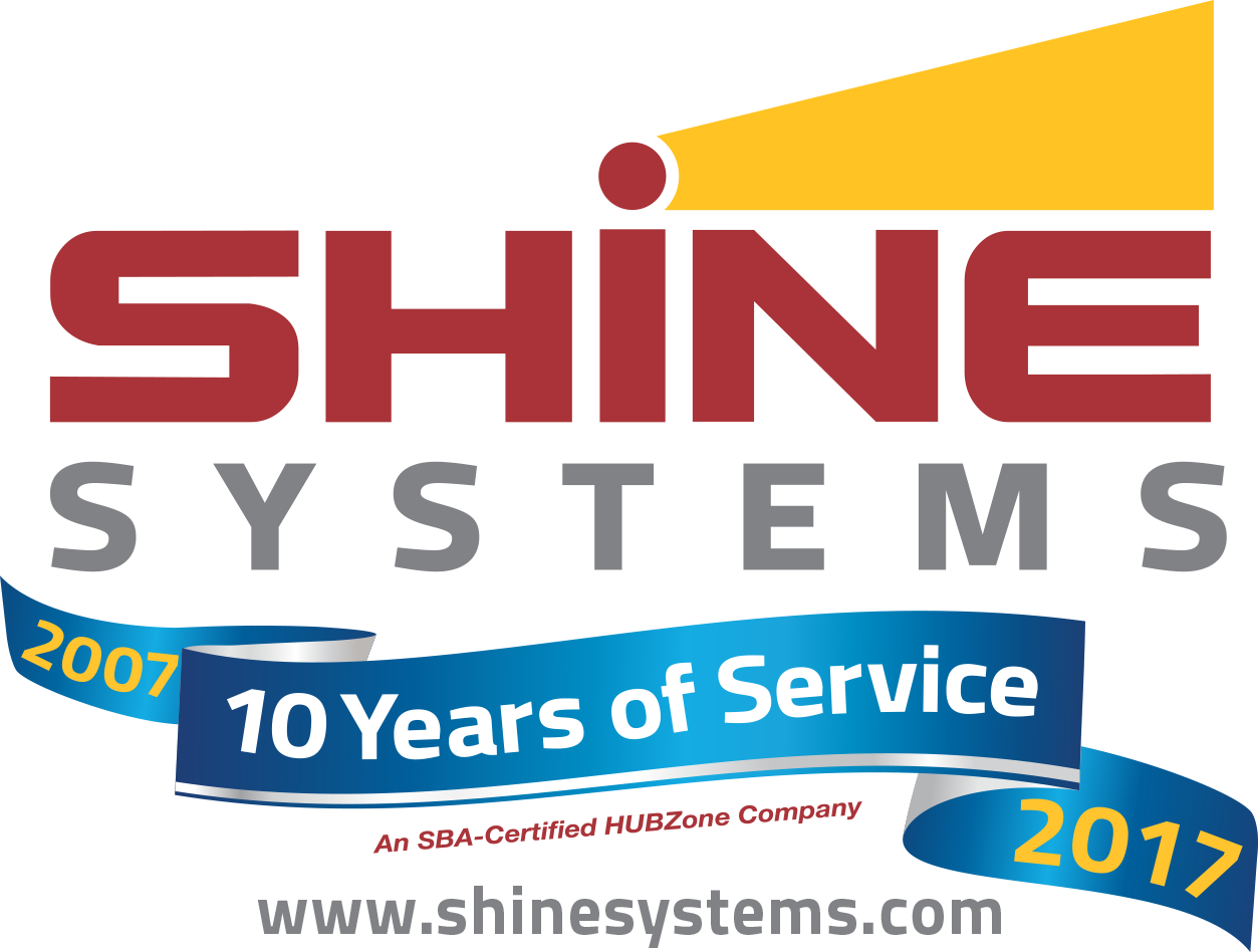 Copy of SHINE Systems 10th Anniversary logo w url