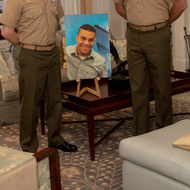 Col Julian and SgtMaj Isaacson, USMC