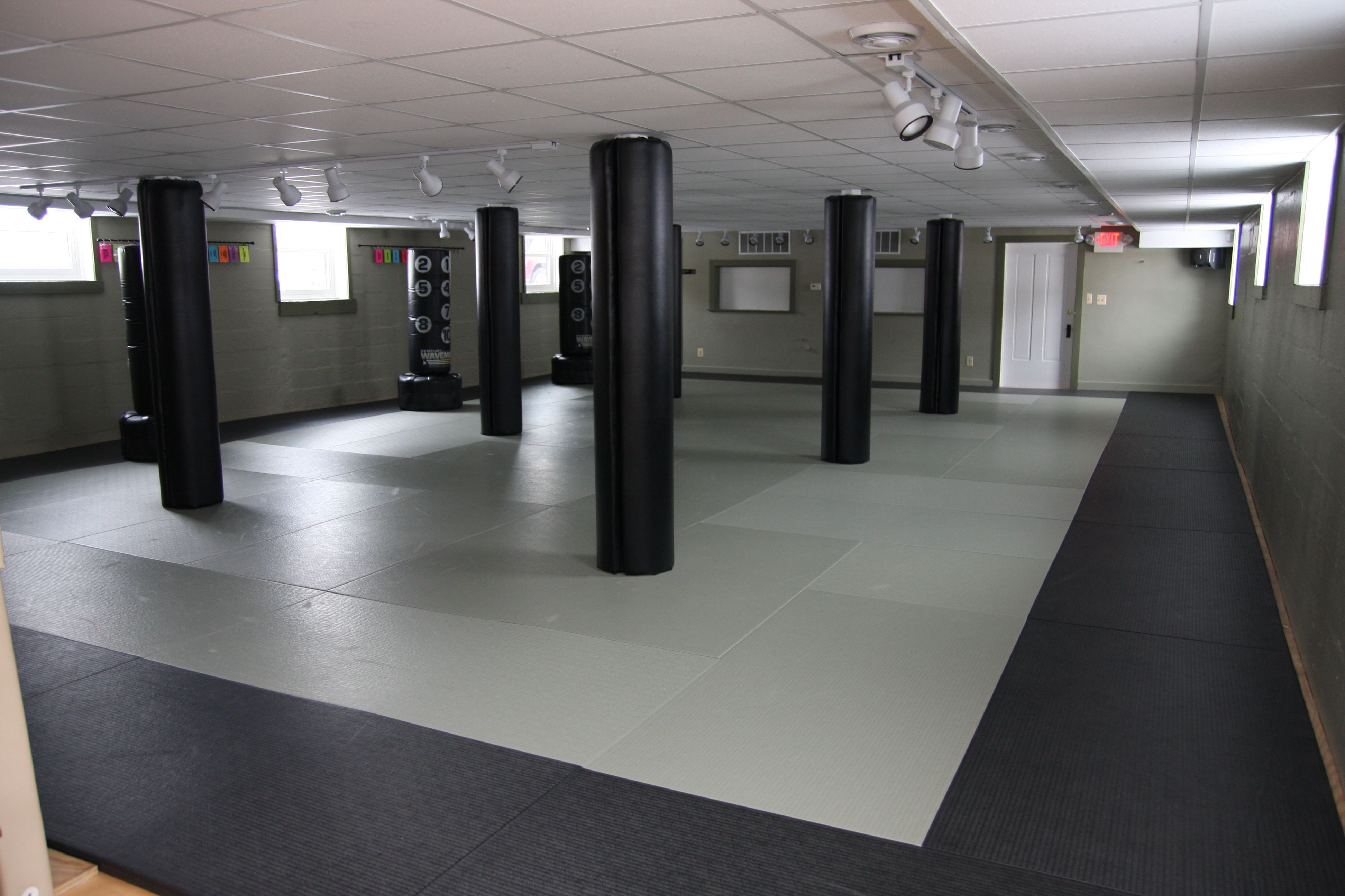 The lower level training area