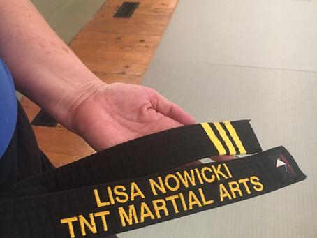 Lisa Nowicki 3rd Degree Black Belt Letter