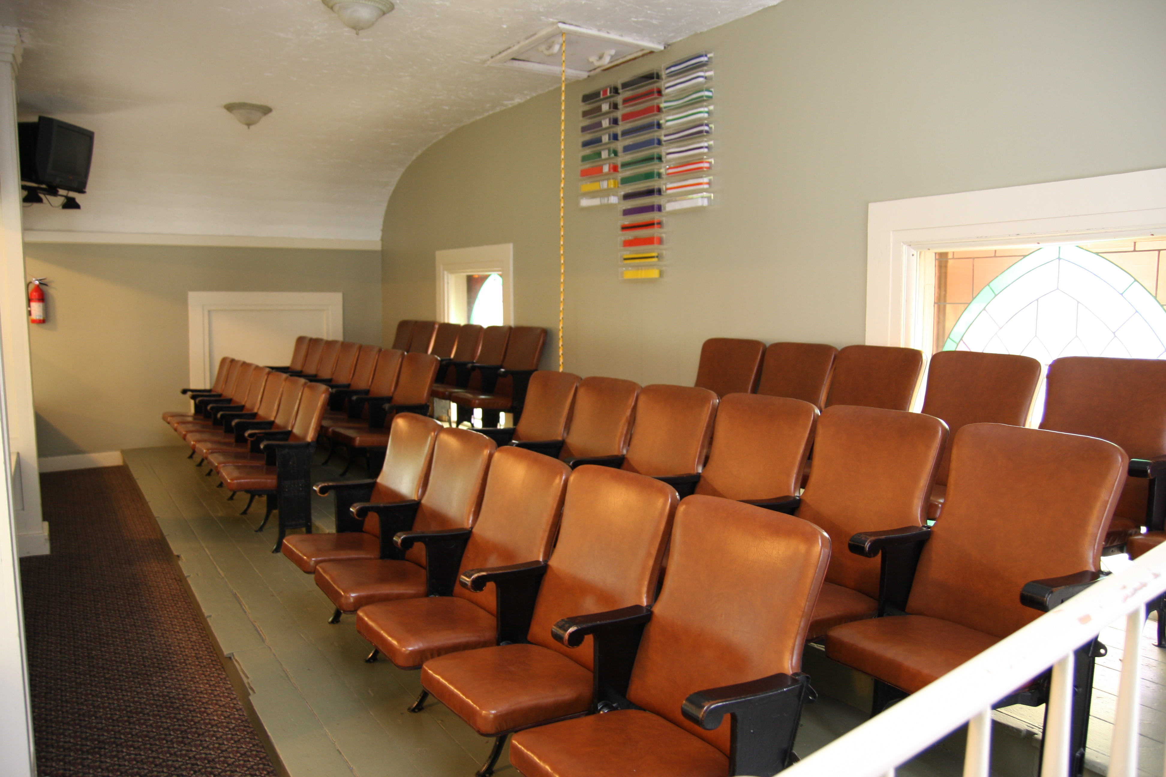 The balcony / parent viewing area