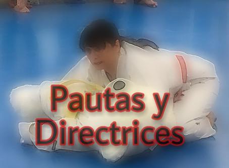 JUDO: DIRECTRICES A CORTO PLAZO