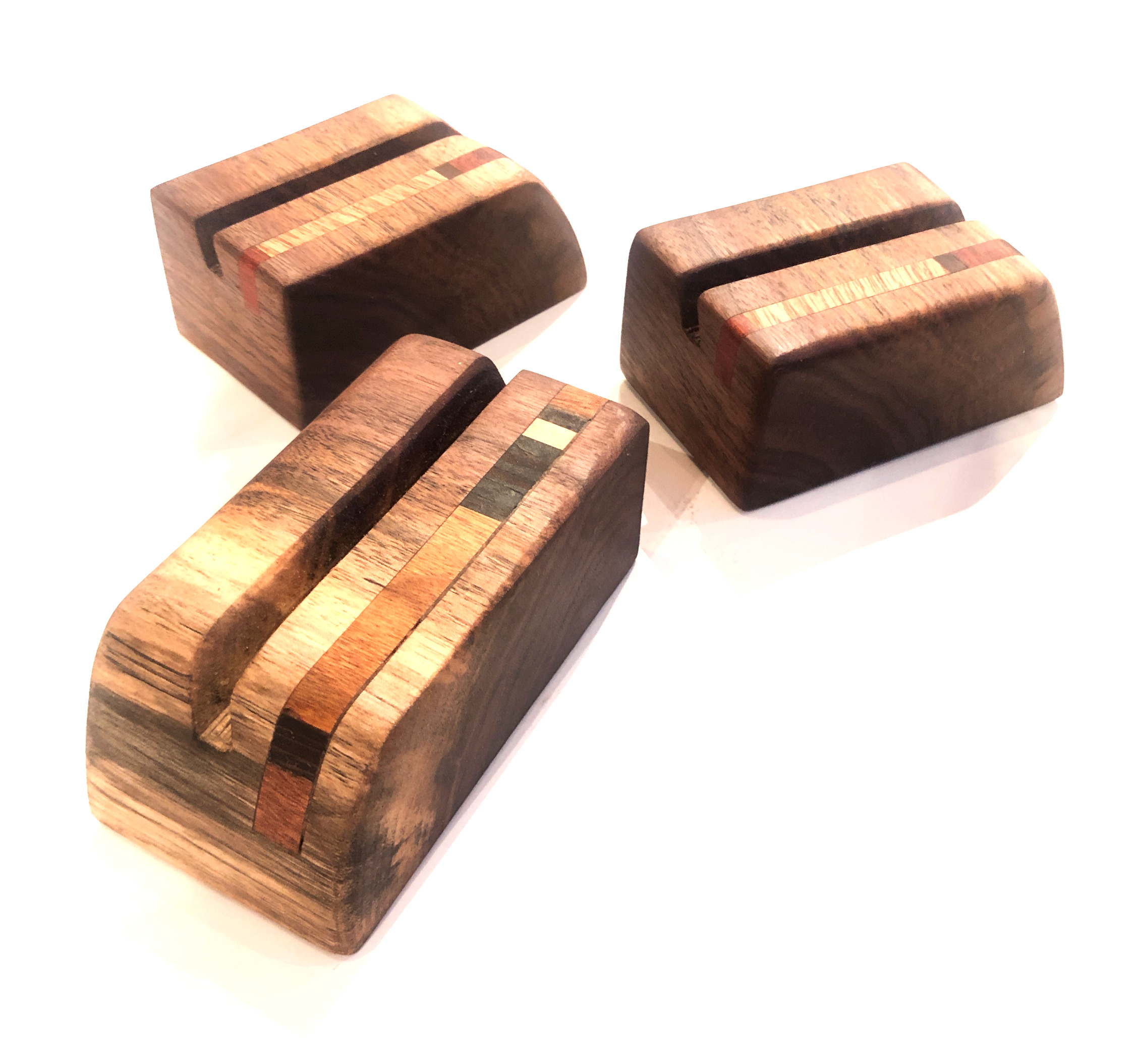 Black Walnut Business Card Holders