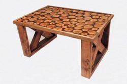 Elm disk coffee table