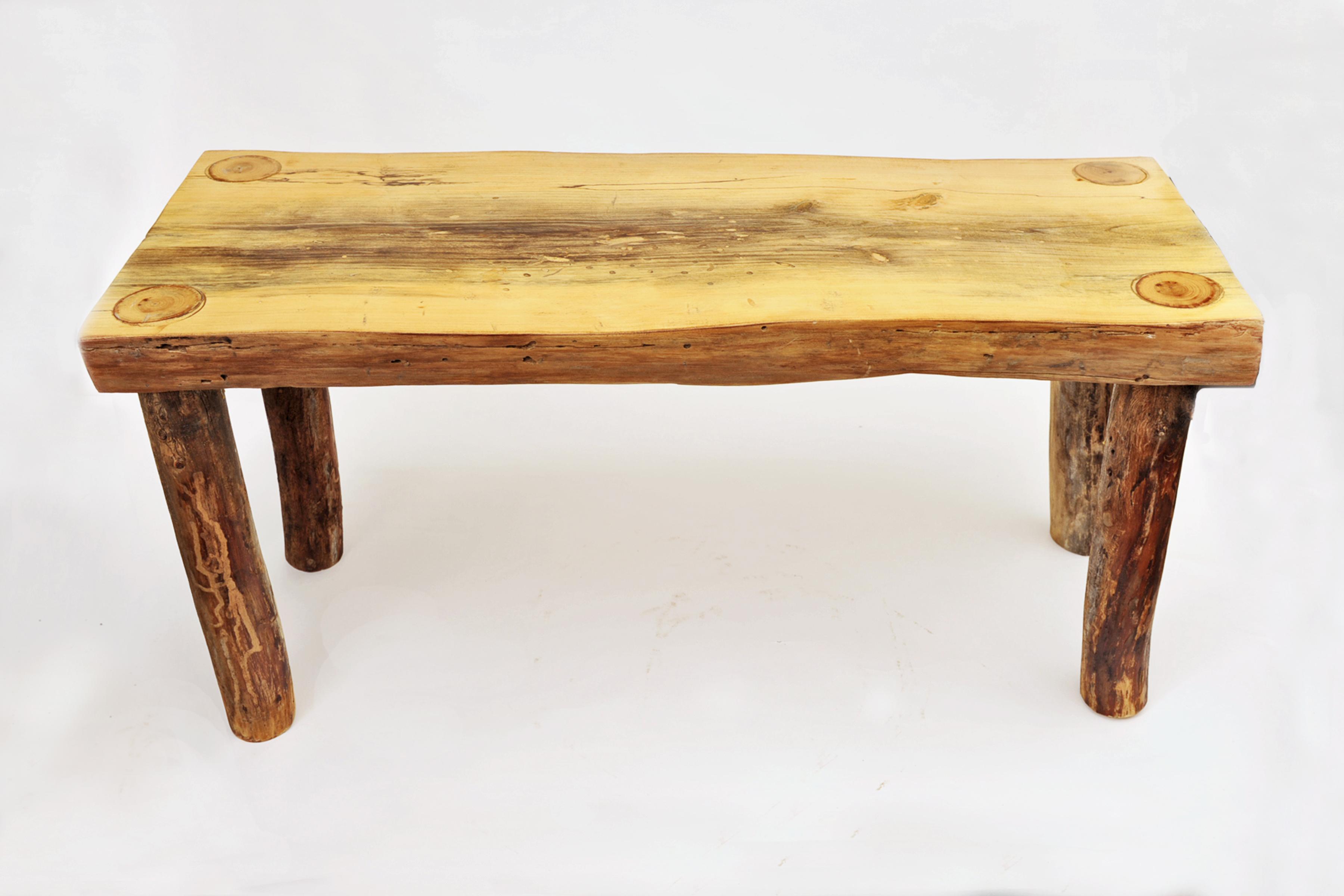 Elm wood bench