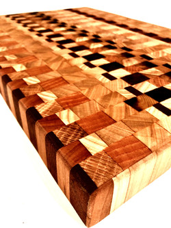 End Grain Exotic Wood Cutting Board