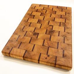 Reclaimed White Oak and Mahogany Cutting Board
