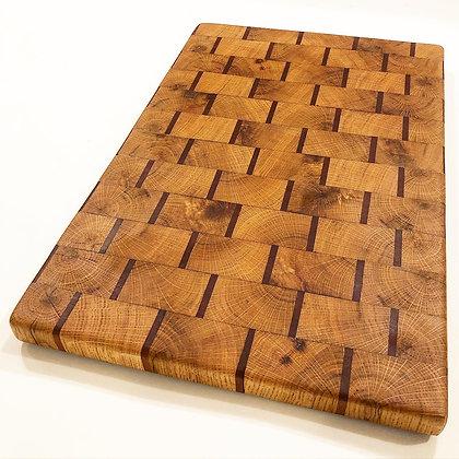 White Oak and Mahogany End Grain Cutting Board