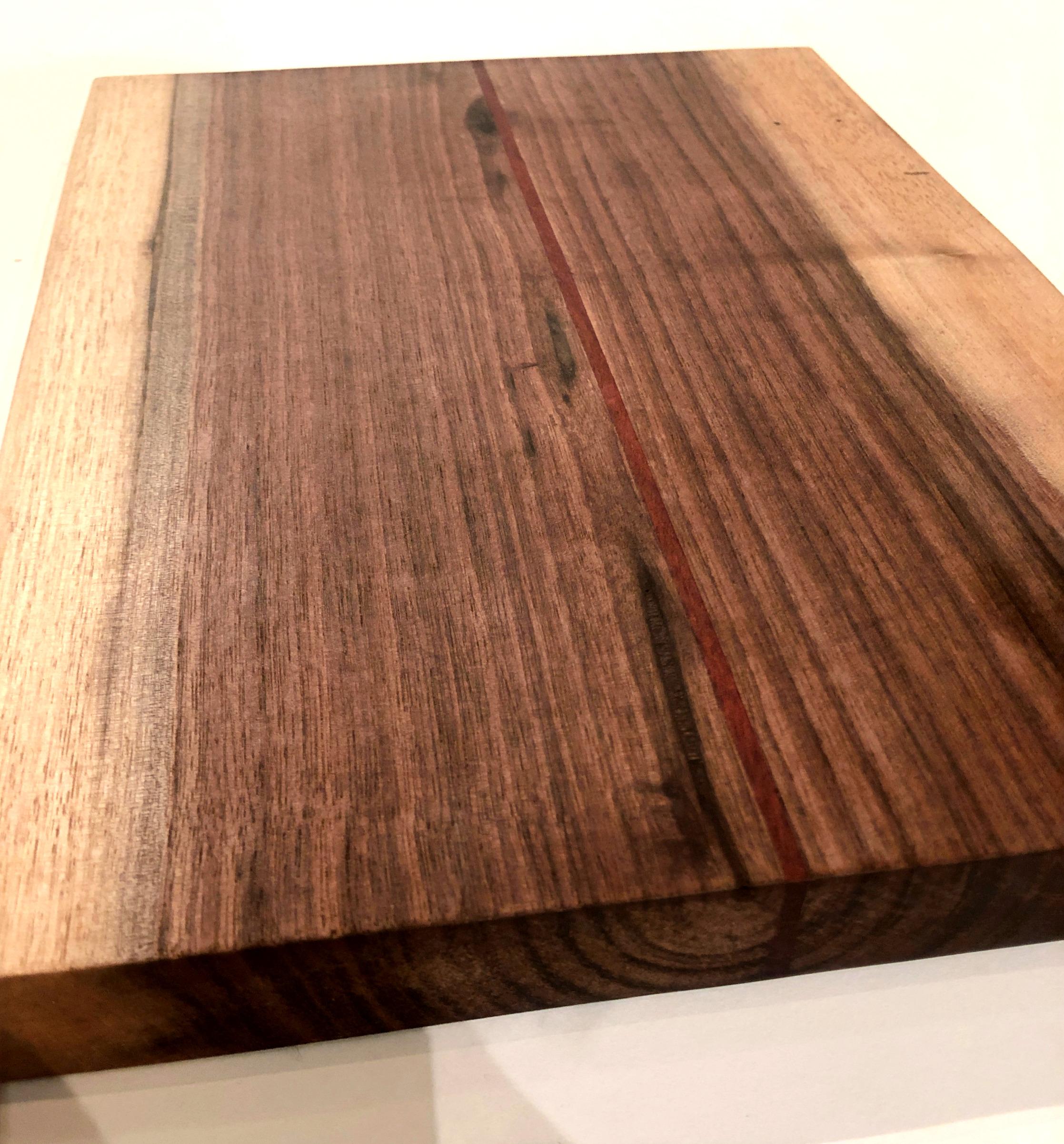 Black Walnut with Bloodwood Strip
