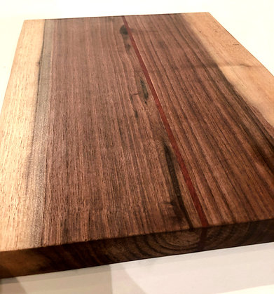 Walnut Cutting Board with Bloodwood Strip