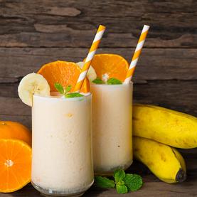 Iogurte de Banana e Laranja