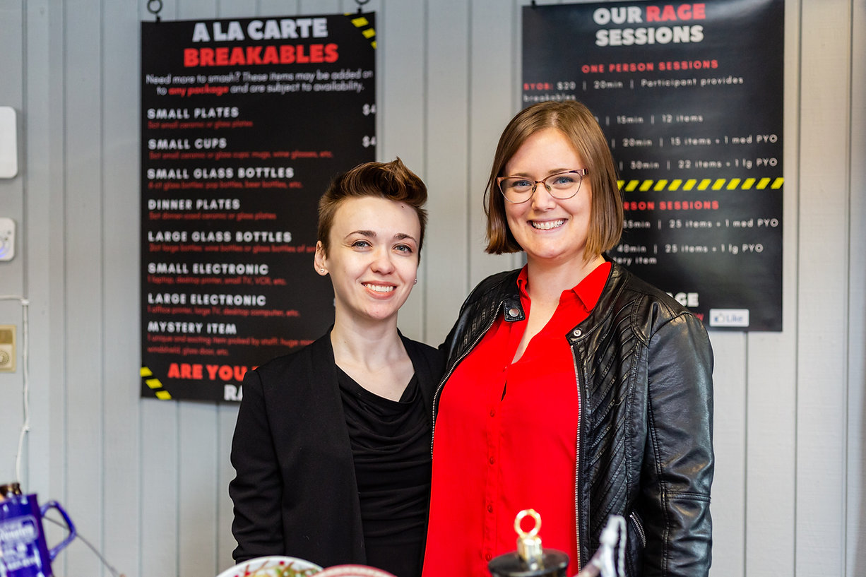The team at All the Rage, two local entrepreneurs