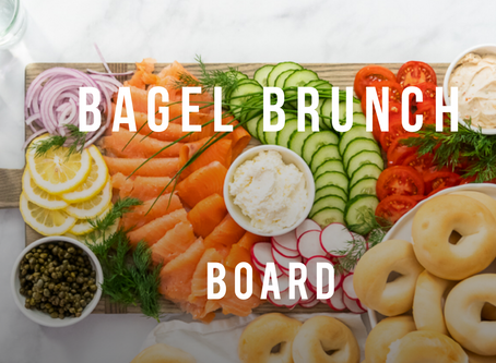Making a Bagel Brunch Board