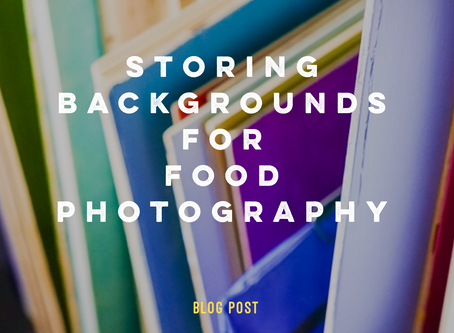 Storing Backgrounds for Food Photography