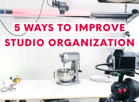 5 Ways to Improve Studio Organization