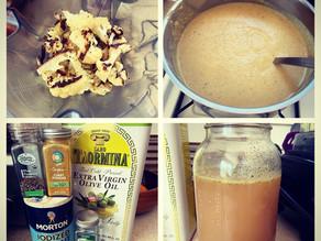Paleo Roasted Cauliflower & Onion Bisque