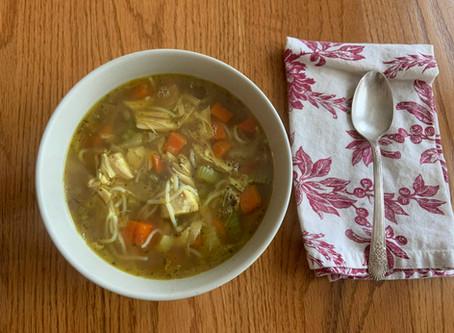 Low Carb Curry Chicken Noodle Soup