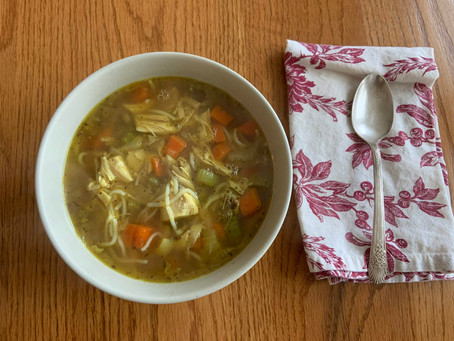 Low Carb Curry Chicken Noodle Soup