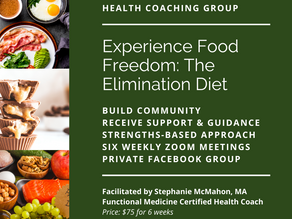 Announcing Group Health Coaching: Experience Food Freedom with the Elimination Diet