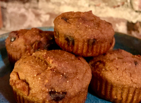 Gluten-Free Sourdough Pumpkin Chocolate Muffins