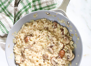 Healthy Mushroom Risotto (Paleo, Low carb)