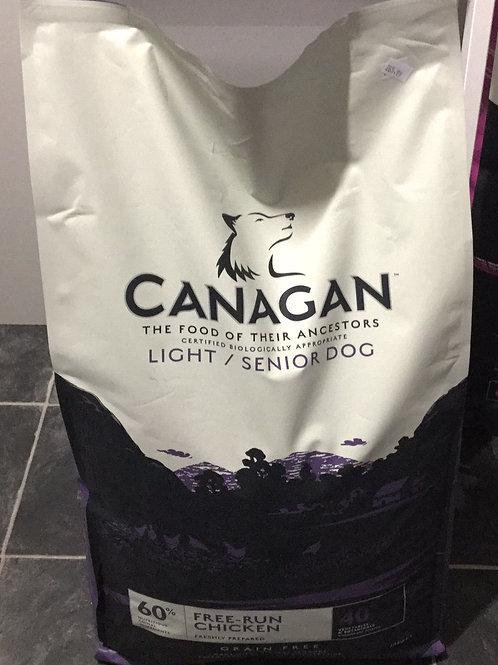 Canagan light/senior dog grain free chicken 12KG