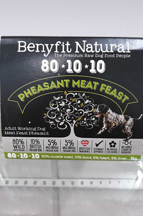 Benyfit Natural 80-10-10 Pheasant Meat Feast 1kg