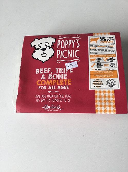 Poppys picnic beef tripe and bone