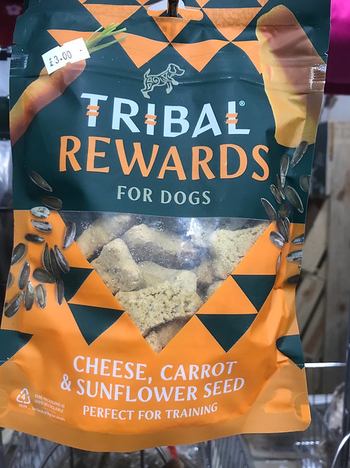 Tribal Rewards 125g Cheese, Carrot & Sunflower seed
