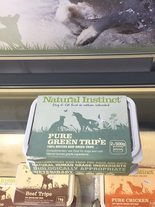 Natural Instinct pure green tripe 2x500g