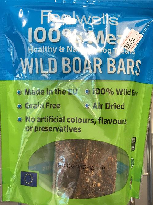 Feelwells 100% Meat Wild Boar bars
