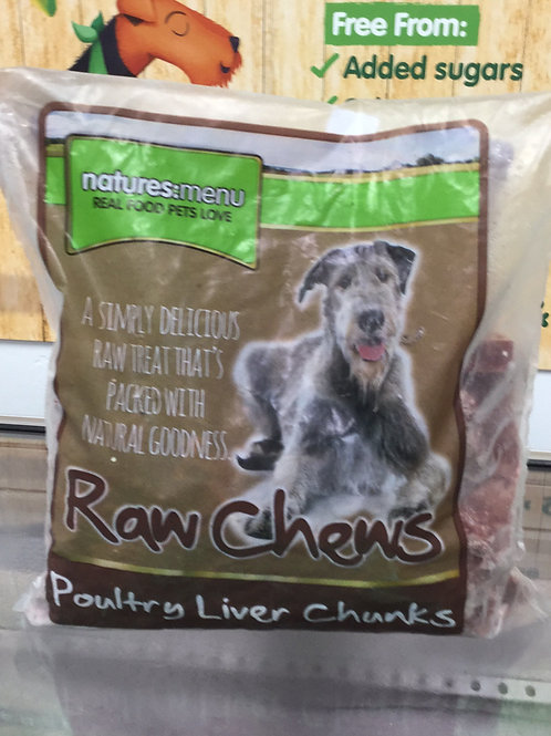 Natures Menu Raw Chews Poultry Liver Chunks 1Kg