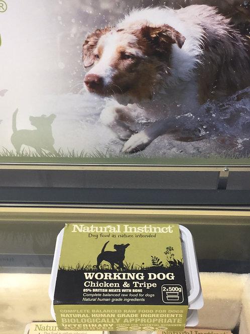 Natural Instinct Working Dog Chicken & Tripe 2x500g