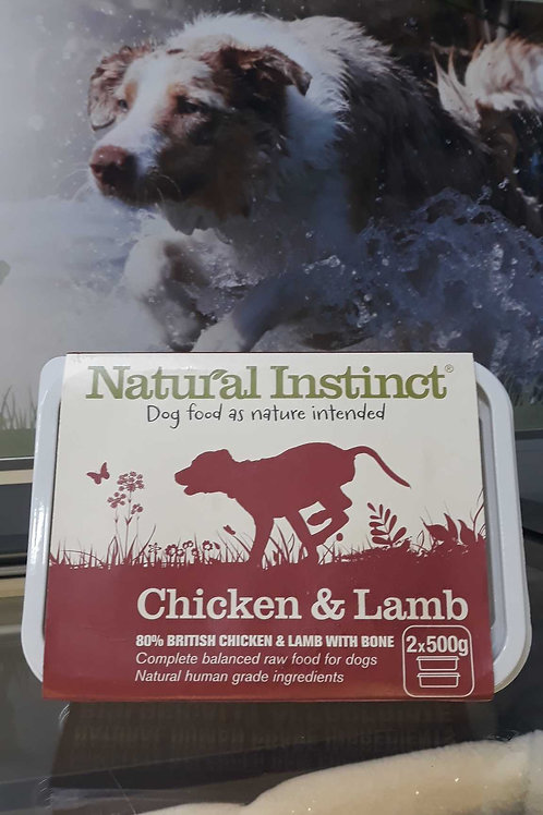 Natural Instinct Chicken &Lamb 2x 500g
