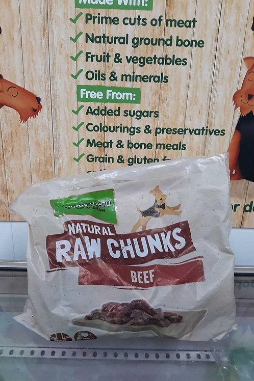 Nature's menu Natural Raw Chunks Beef 1kg