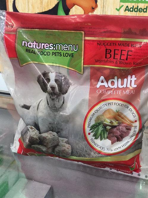 Natures Menu Beef, Vegetables & Brown Rice 1Kg