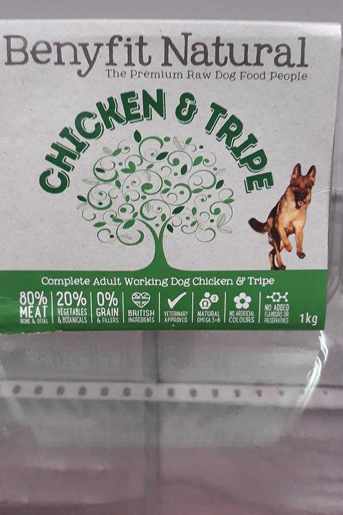 Benyfit Natural  Chicken & Tripe 1kg