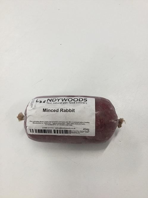Landywoods minced rabbit (20% bone) no offal