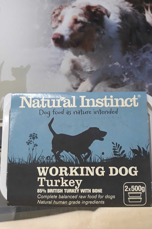 Natural Instinct working dog Turkey 2x 500g