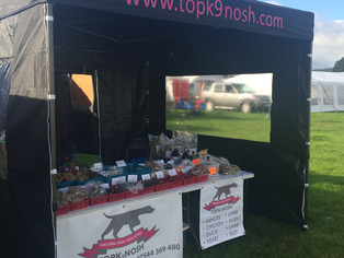 TopK9Nosh had a great time today at the Flint & Denbigh Show! Gorgeous weather, Fab Four legged