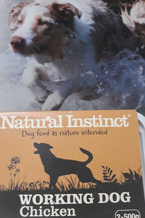 Natural Instinct working dog Chicken 2x 500g
