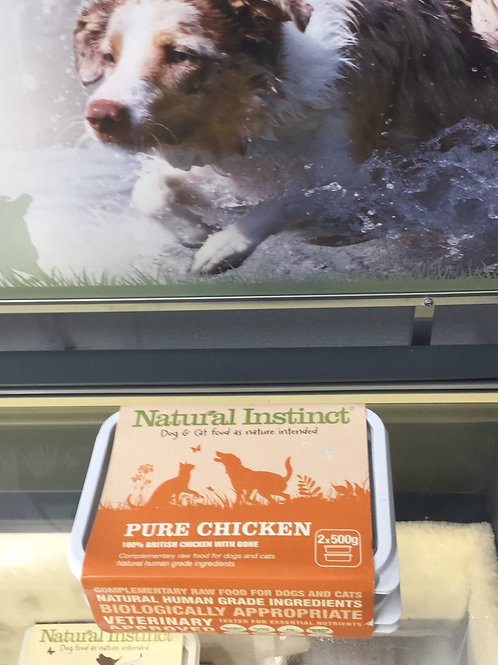 Natural Instinct pure chicken with bone 2x500g
