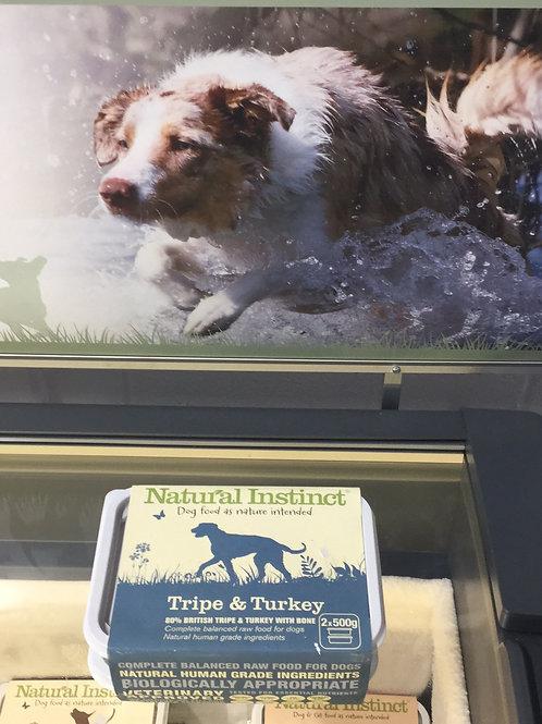 Natural Instinct Tripe and Turkey 2x500g