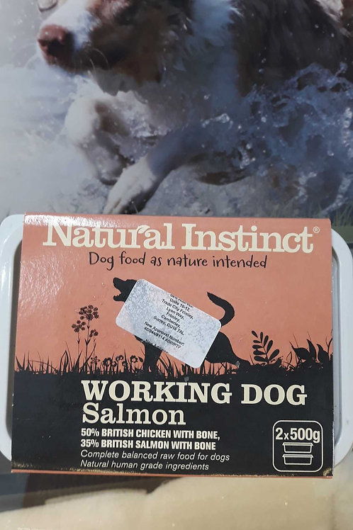 Natural Instinct working dog Chicken and Salmon 2x 500g