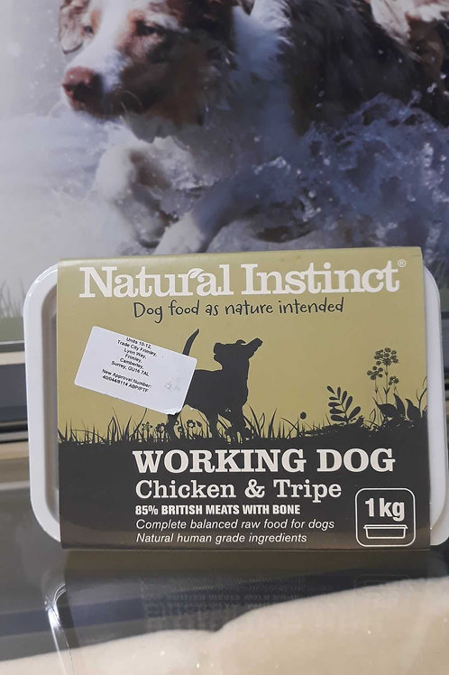 Natural Instinct working dog Chicken & Tripe 1kg