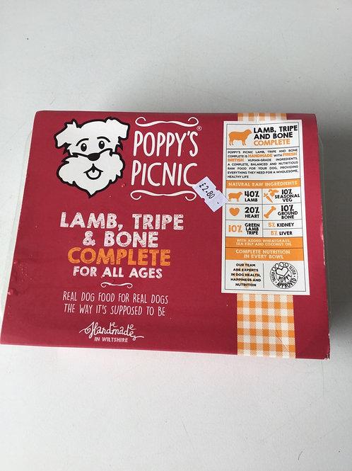 Poppys picnic lamb tripe and bone