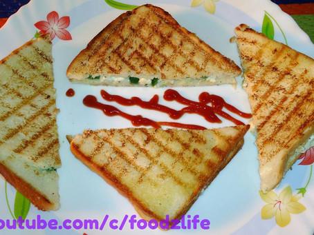 Grilled Paneer Sandwich (पनीर सैंडविच )