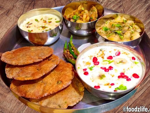 Vrat Ka Khana-Vrat Ki Thali - व्रत की थाली | Navratri Recipes - FoodzLife