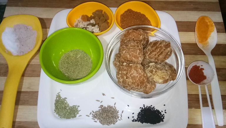 Ingredients for Aam Ka Galka by FoodzLife